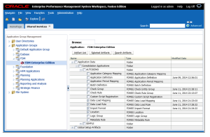 FDMEE and Lifecycle Management