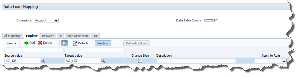 FDMEE Data Sync: Data Load Rule